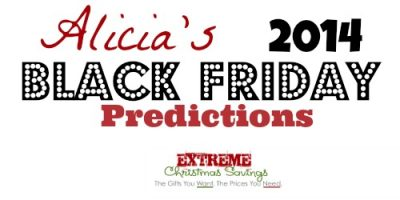 2014 Black Friday and Holiday Sale Predictions