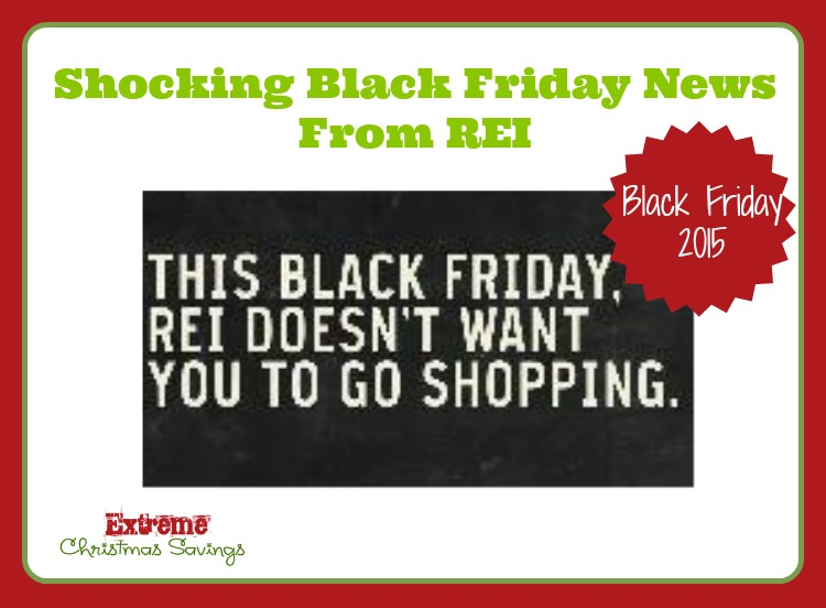 REI Will Be CLOSED on Black Friday!