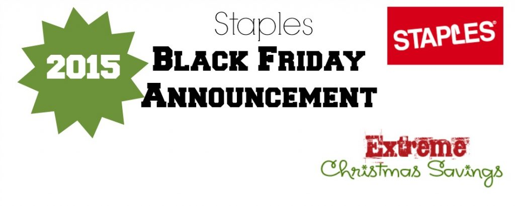 SHOCKING Staples Black Friday 2015 Announcement