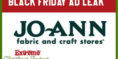 Black Friday Ad Leak | JoAnn Fabrics