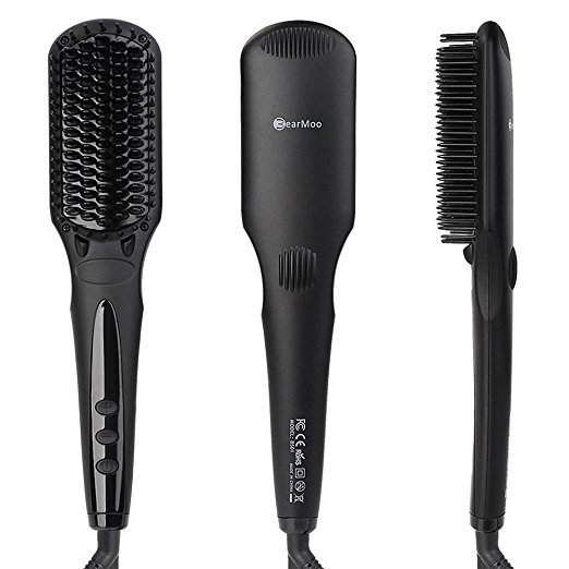 BearMoo Best Brush Hair Straightener for Silky Frizz-free Hair, Safer Ceramic Faster Heating MCH Technology $39.99 (was $99.99)
