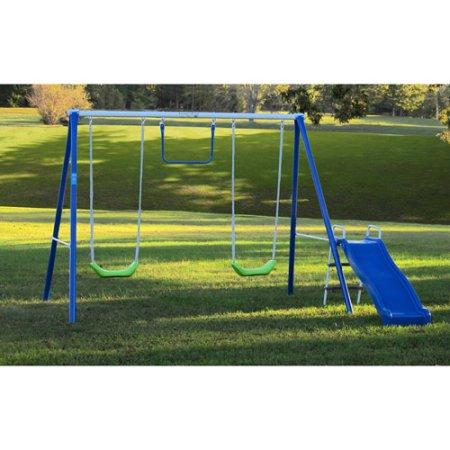 swing walmart has this flexible flyer fun time fun metal swing set
