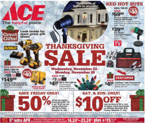 2016 Ace Hardware Black Friday Ad