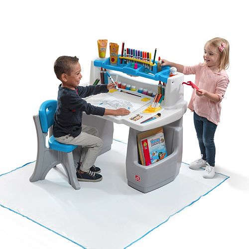 Step2 Deluxe Art Desk With Splat Mat 45 49 Was 99 99