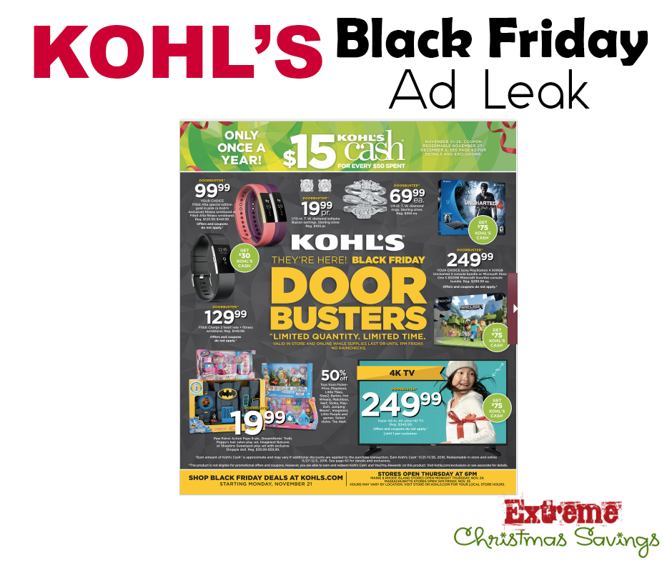 The Kohl's 2016 Black Friday Ad Has Been LEAKED!!