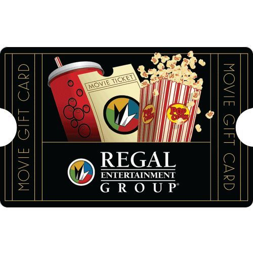 $50 Regal Entertainment Group® Gift Card for only $40 – Mail Delivery