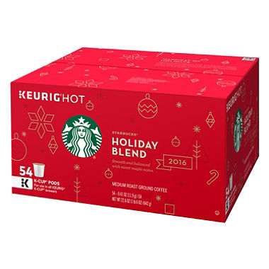 Starbucks Holiday 2016 Blend K-Cups (54 ct.) $29.98 (was $42.38)
