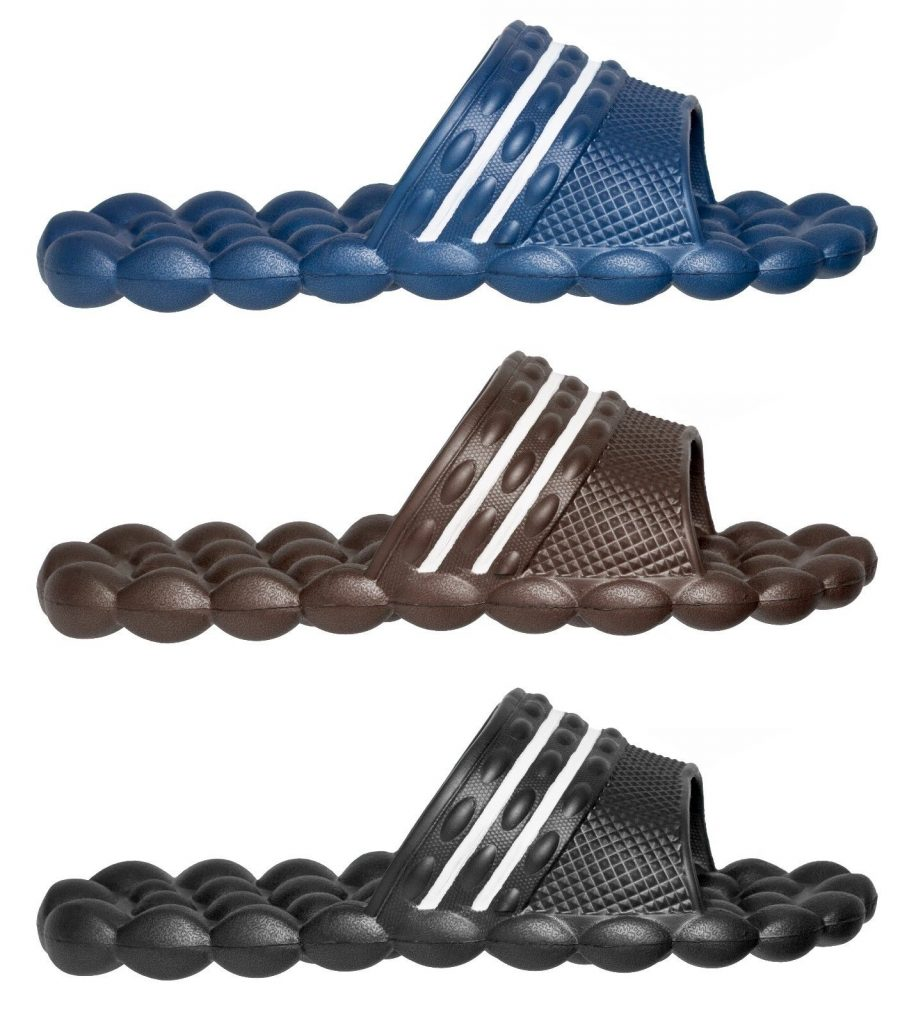 Swiss Wear Deluxe Comfort Solarsoft Massage Slippers Slides $7.99 (was $21.99)