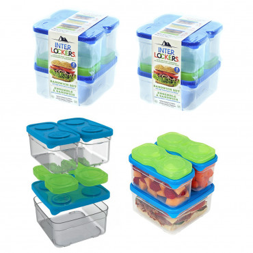 2pk Arctic Zone Food Container Sets – Stacking, Freezer Bricks $14 (was $30)