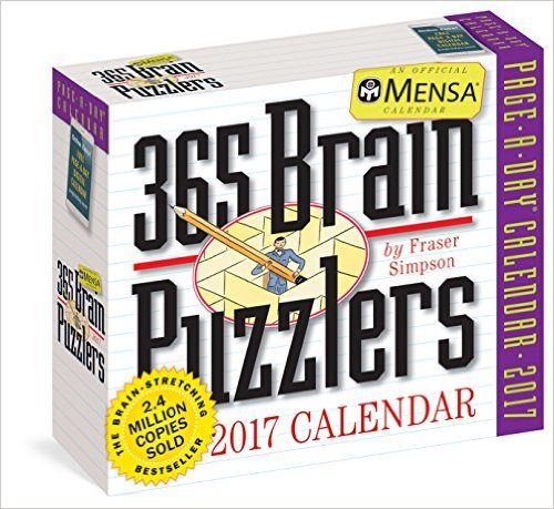 Mensa 365 Brain Puzzlers Page-A-Day Calendar 2017 $7.49 (was $14.99)