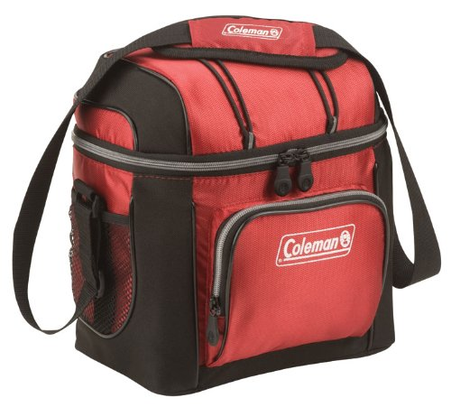 Coleman 9-Can Soft Cooler With Hard Liner $10 (was $29.99) Red Only
