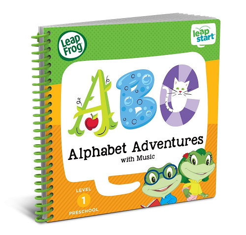 LeapFrog LeapStart Preschool Activity Book: Alphabet Adventures and Music $7.99 (was $12.99)