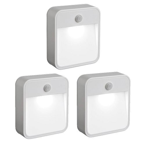 Mr. Beams MB723 Battery-Powered Motion-Sensing LED Stick-Anywhere Nightlight, 3-Pack $15.49 (was $26.65)