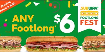 All Footlongs just $6 at Subway | Subway...