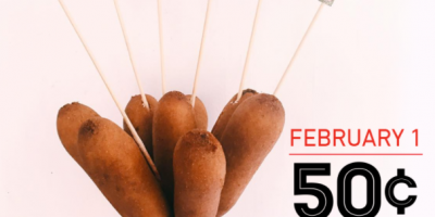 50¢ Corn Dogs at Sonic on February 1st