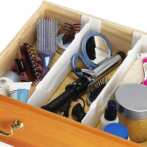 Whitmor Adjustable Drawer Dividers, Includes 2 Dividers $8.18 (was $14.99)