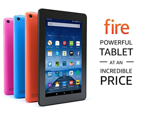 Fire Tablet, 7″ Display, Wi-Fi, 8 GB: $39.99 (was $50)- Kids Edition is also on sale!