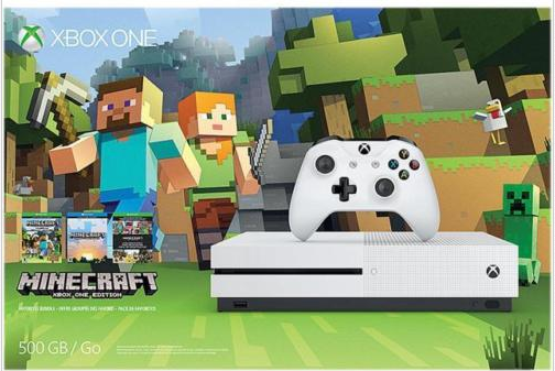 Xbox One S 500GB Console – Minecraft Favorites Bundle: $199.99 (was $300)