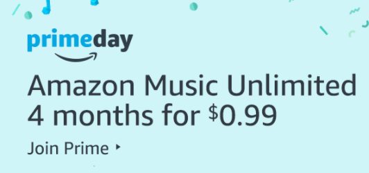 Get 4 Months of Amazon Music Unlimited for just 99¢