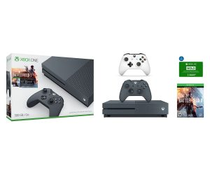 Xbox One Console with Extra Controller and Xbox Live Gold Membership e-Gift Card Bundle $279