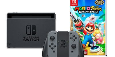 Nintendo Switch with Gray Joy-Con &...