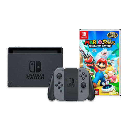 Nintendo Switch with Gray Joy-Con & Mario + Rabbids Kingdom Battle $339.99
