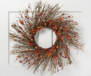 "Blooming Autumn 23"" Leaf, Acorn & Twig Wreath $10.99 (was $39.99) + Up To 75% Off Other Items!"