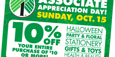 Dollar Tree: Save 10% on Your Purchase |...
