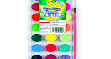 Crayola 24 Count Washable Watercolors: $...