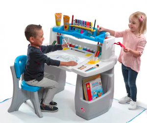 $59.49 (was $100) Step2 Deluxe Art Desk with Splat Mat + Earn $10 in Kohl's Cash
