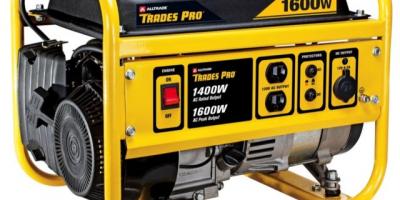 Trades Pro 1400w/1600w Gas Generator $17...