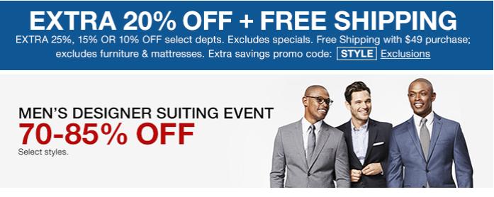Men's Suiting Event Macy's