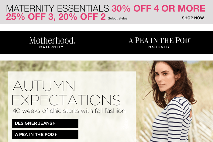 Buy More Save More on Maternity