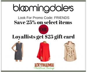 Dress for the Holidays with Bloomingdale's SALE Extra 25% off Clearance