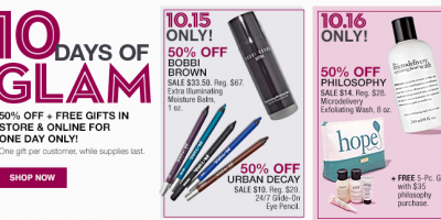 Save 50% Plus Free Gifts on Select Beaut...