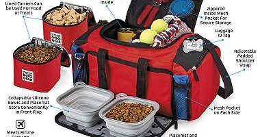 $34.88 (was $59.99) Overland Dog Gear Ultimate Week Away Duffle Bag, Medium/Large Dogs