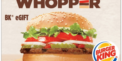 $5 (was $10) Burger King eGift Card