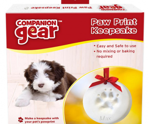 $5 (was $24.99) Companion Gear Paw Print Ornament