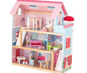 $65.26 (was $118.99) KidKraft Chelsea Dollhouse with Furniture