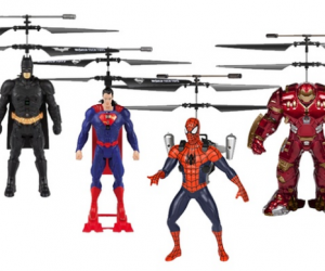 $24.99 (was $79.99) Marvel or DC Comics 2CH IR RC Helicopter Flying Figure