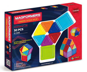 $35.99 (was $49.99) Opaque Rainbow 30-Piece Magnetic Construction Set