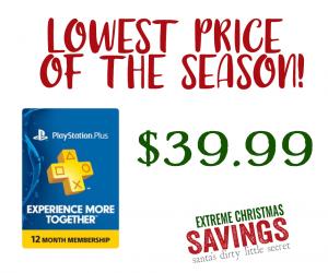 $39.99 (was $60) | Playstation Plus Membership Deal