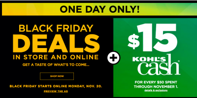 Get Kohl's Black Friday Deals TODA...