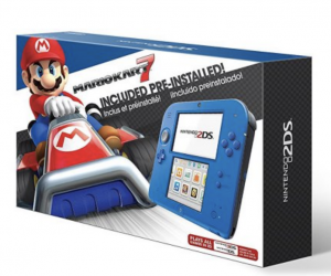 BLACK FRIDAY NOW! Nintendo 2DS Electric Blue 2 System with Mario Kart 7