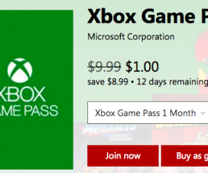 $1.00 (was $10) Xbox One Game Pass (1 month)