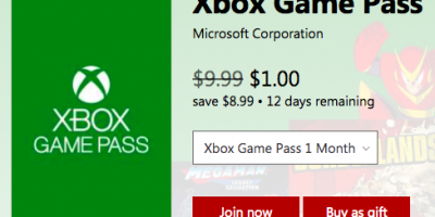 $1.00 (was $10) Xbox One Game Pass (1 mo...