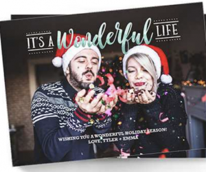 50 Holiday Photo Cards   Just $18.75 SHIPPED