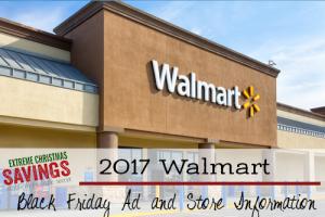 2017 Walmart Black Friday Information