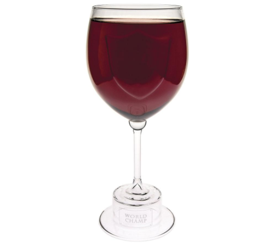 WORLD CHAMP wine glass trophy - code: WINELOVER  for exclusive $8.99 Price!