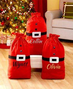 Personalized Santa Sacks